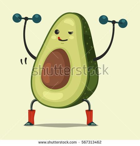 Avocado clipart face.  collection of cartoon