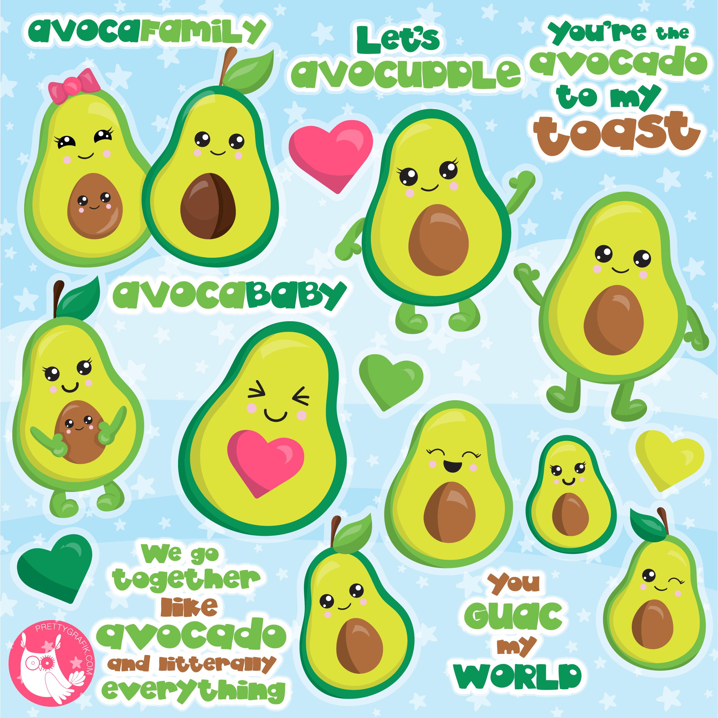 Prettygrafik store offer users. Avocado clipart guacamole