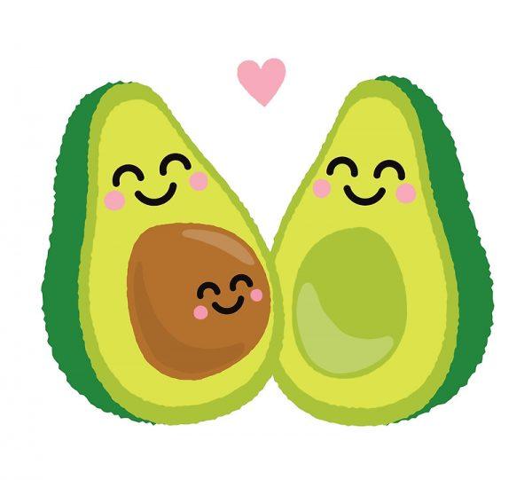 Avocado clipart illustration. Nice clip art