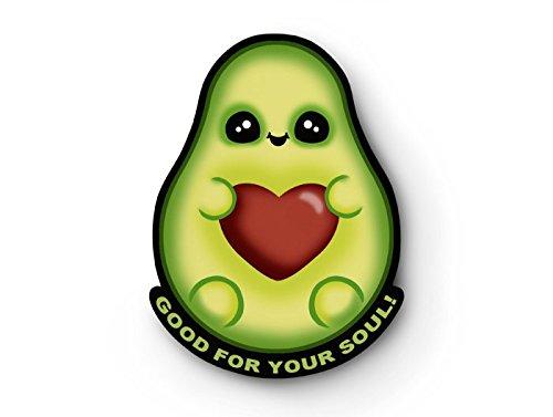 Avocado clipart kawaii. Amazon com sticker soft