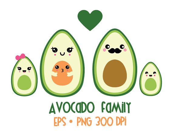 Valentine commercial off sale. Avocado clipart kawaii