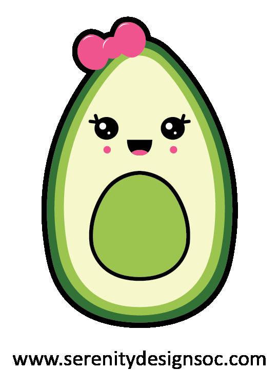 Avocado clipart kawaii. Family vegan vegetarian stickers