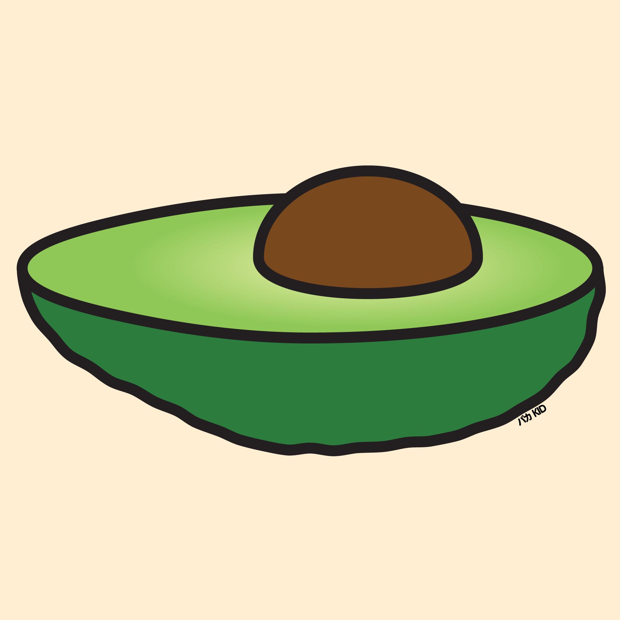 Avocado clipart kid.  stupidkid illustration