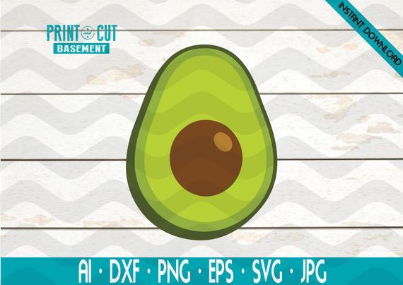 Avocado clipart printable. Svg file for cricut