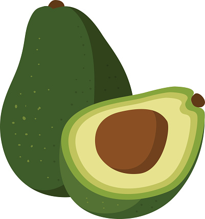 Nice coloring pages for. Avocado clipart printable
