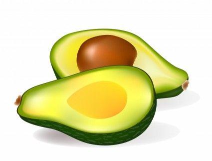 Avocado clipart printable. Two half avocados wackyfood