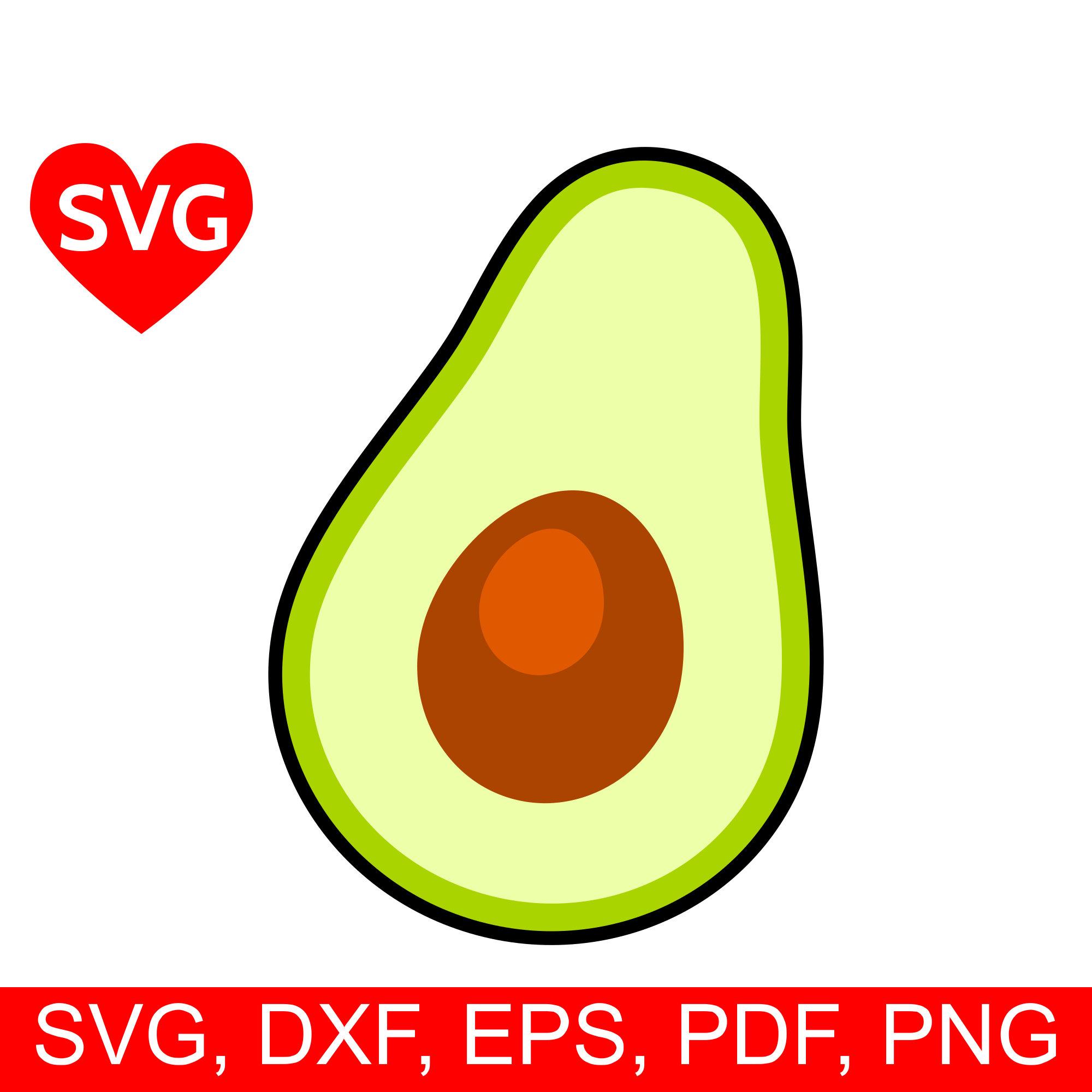 Svg file for cricut. Avocado clipart printable