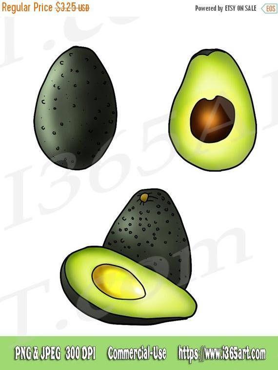 off fruit healthy. Avocado clipart printable