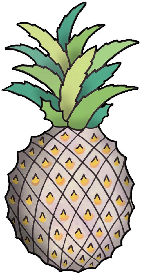 Artbyjean wood roses pineapple. Avocado clipart purple