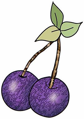 Artbyjean paper crafts cherries. Avocado clipart purple
