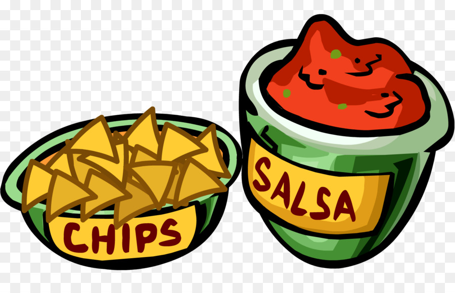 Nachos clipart. Salsa chips and dip