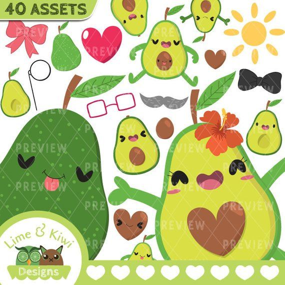 Avocado clipart vector. Pin on lime and