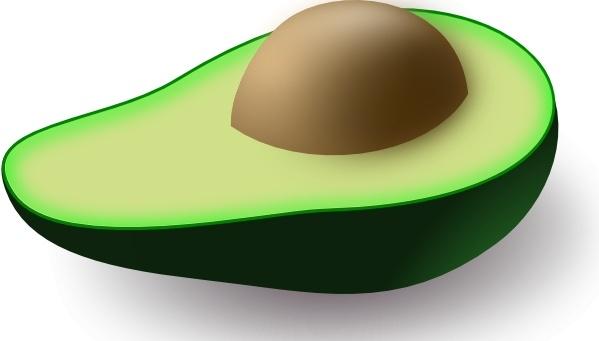 Pipo clip art free. Avocado clipart vector