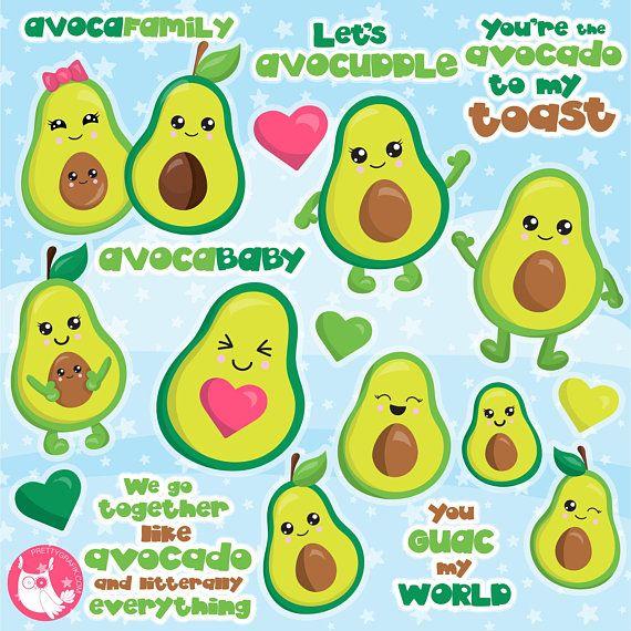 Buy get commercial use. Avocado clipart vector