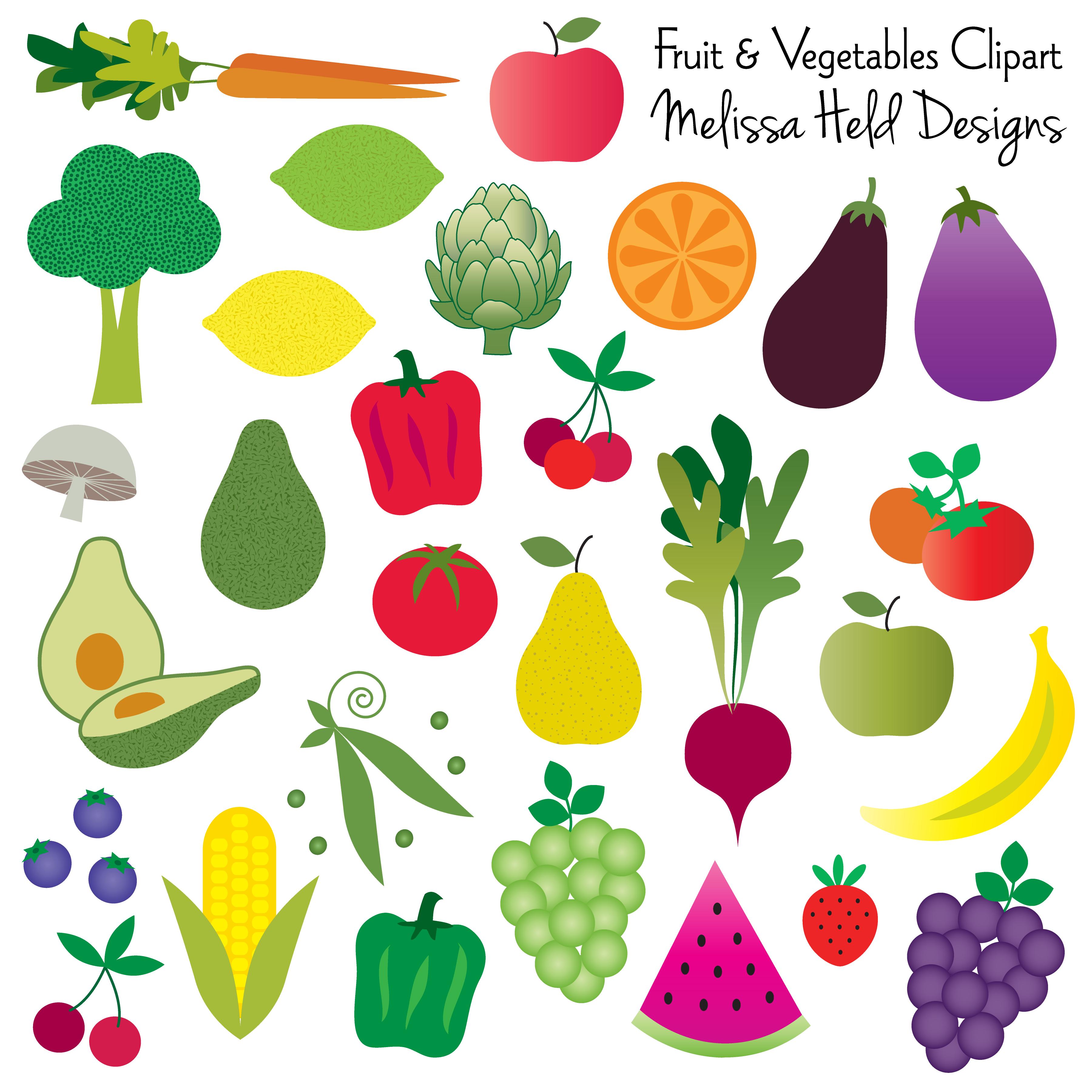 Avocado clipart vegetable. Fruit and vegetables bullet