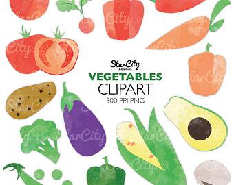 Avocado clipart vegetable. Clip art etsy corn
