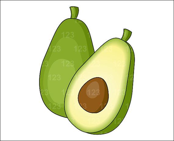 Items similar to single. Avocado clipart vegetable