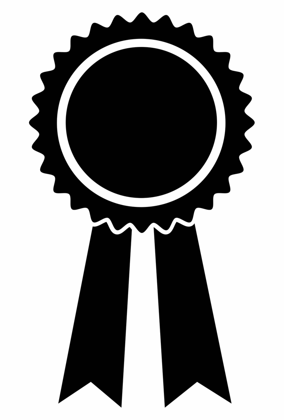 Black ribbon icon condolence. Award clipart