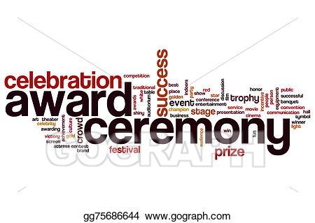 Clip art ceremony word. Award clipart award presentation