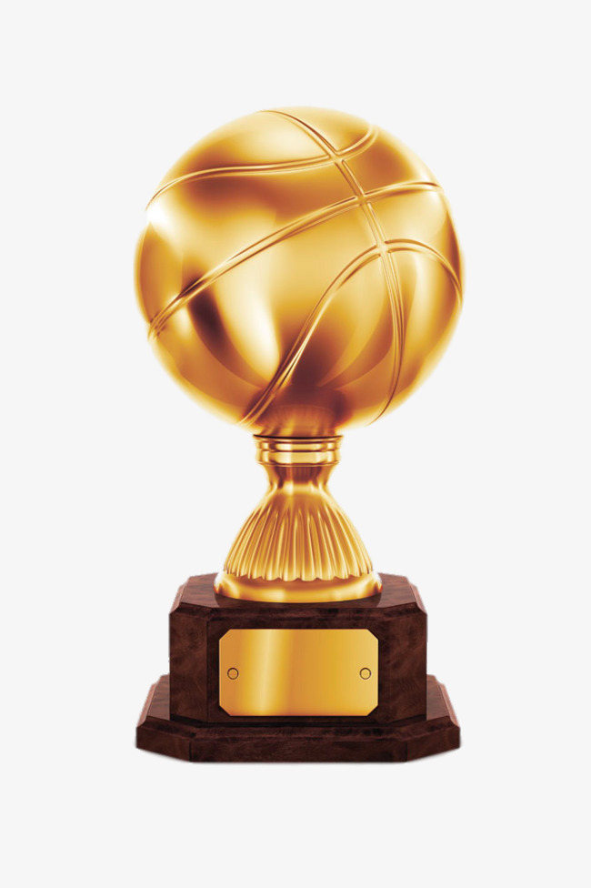 Trophy game gold png. Awards clipart basketball