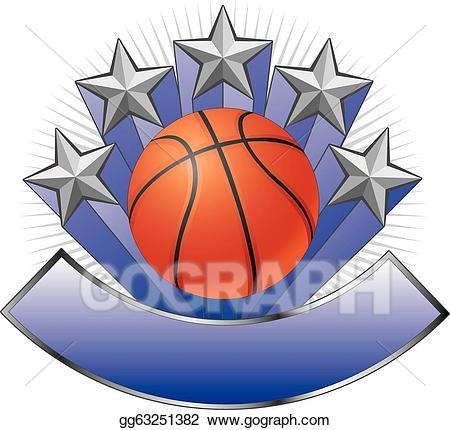 Vector art design emblem. Award clipart basketball