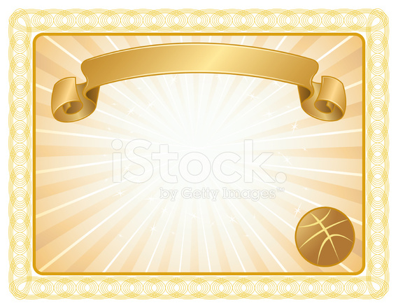Awards clipart basketball. Award certificate background stock