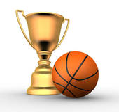 Golden trophy stock illustrations. Awards clipart basketball