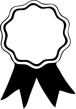 Awards clipart black and white. Award ribbon panda free