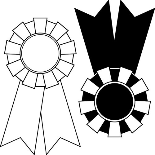 Award clipart black and white. Ribbon station