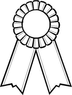 Ribbon station . Award clipart black and white