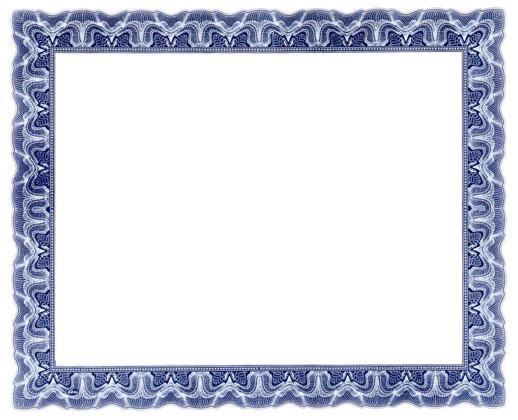 Award clipart borders. Certificate border for certificates