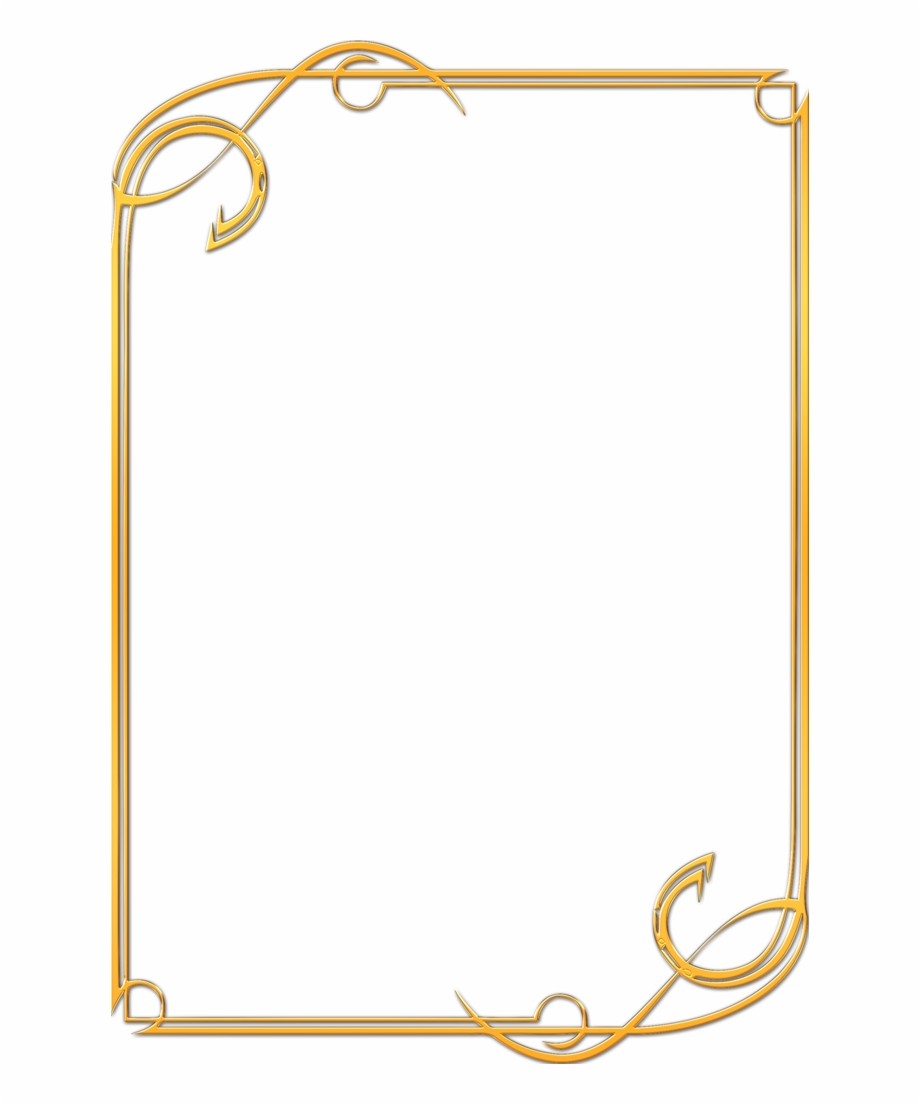 Gold certificate border png. Award clipart borders