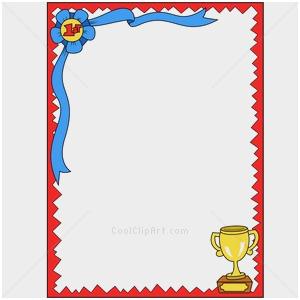 Award clipart borders. Certificate border template best