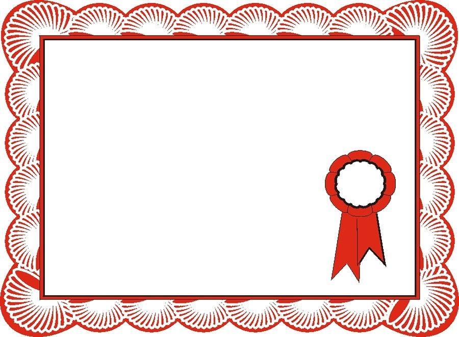 Certificate border template free. Award clipart borders