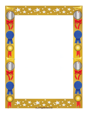 Award clipart borders. This colorful border is