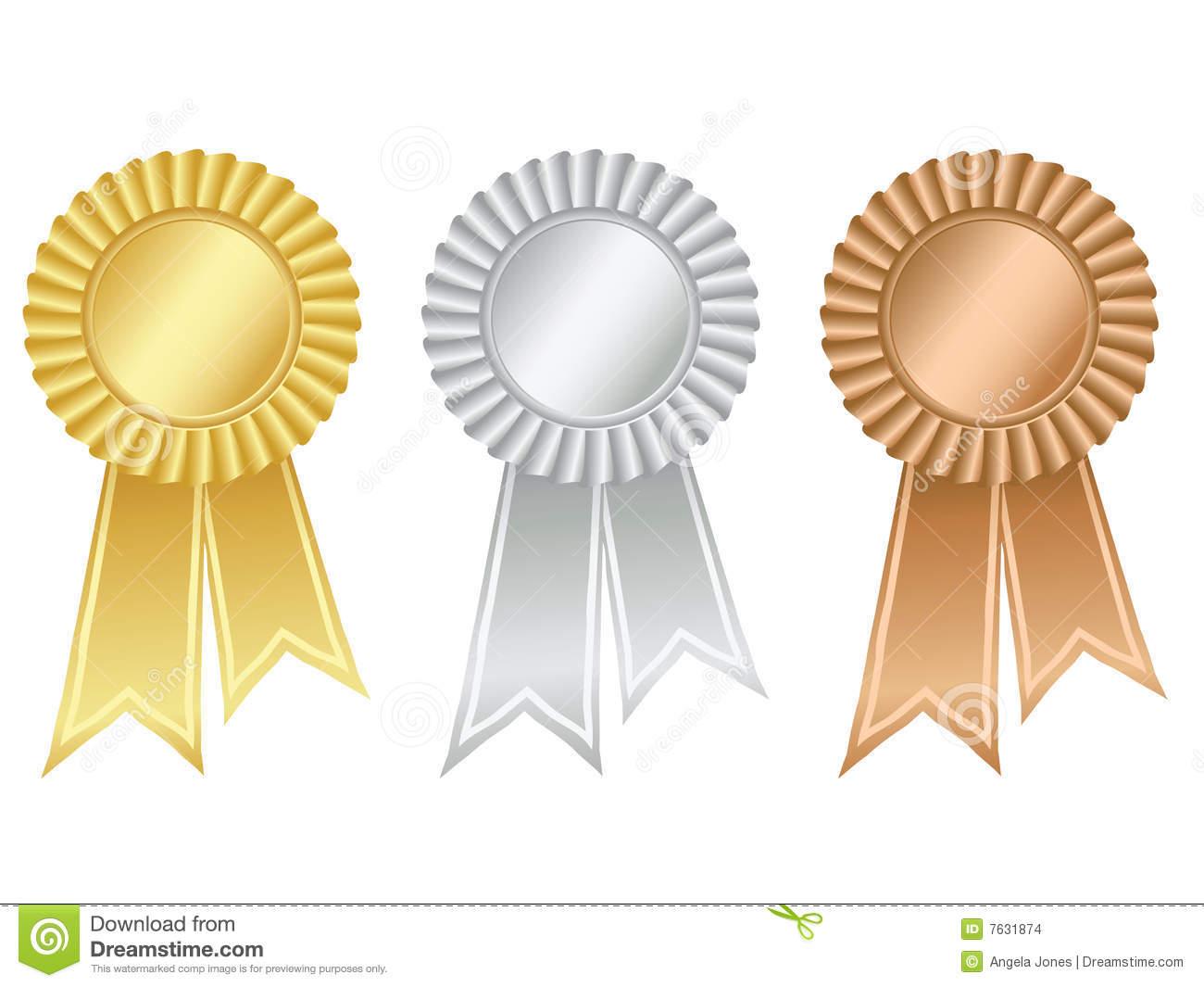 Awards clipart bronze. Rosette