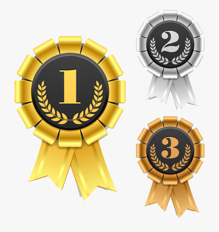 Gold biscuit first second. Awards clipart bronze