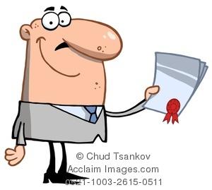 Award clipart cartoon. Image of a smiling