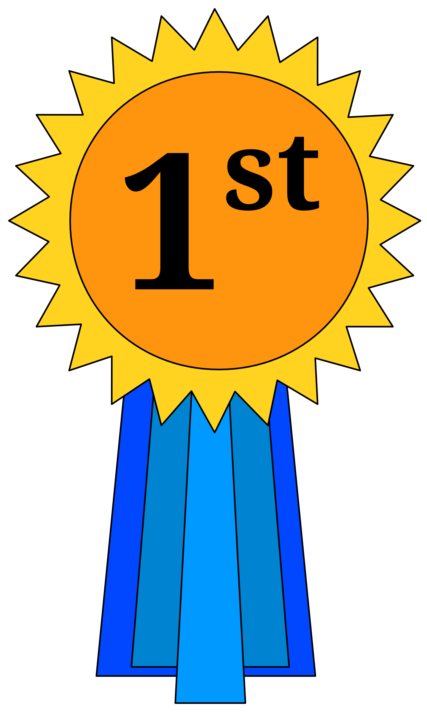 nd place ribbon. Floor clipart 1st