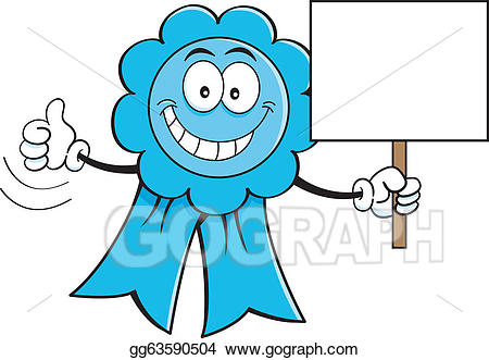 Award clipart cartoon. Vector ribbon with a