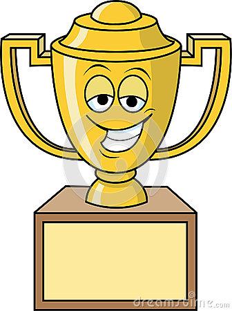 Award clipart cartoon. Trophy clip art free