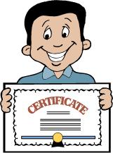 Award clipart certificate. Certificates clip art library