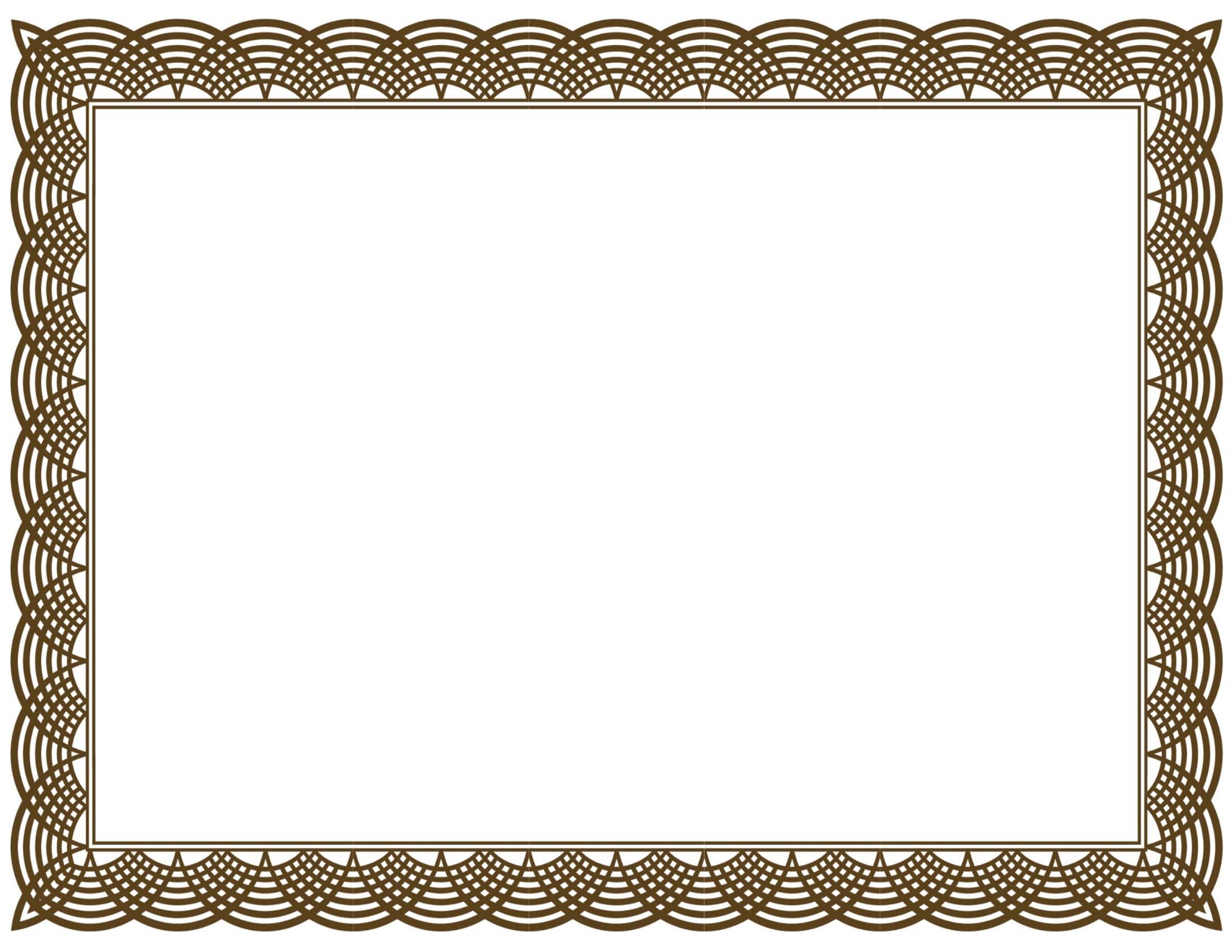 Award clipart certificate. Border incep imagine ex