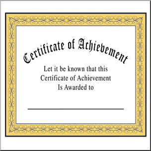 Clip art of achievement. Award clipart certificate
