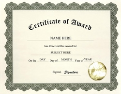 Geographics certificates free word. Award clipart certificate