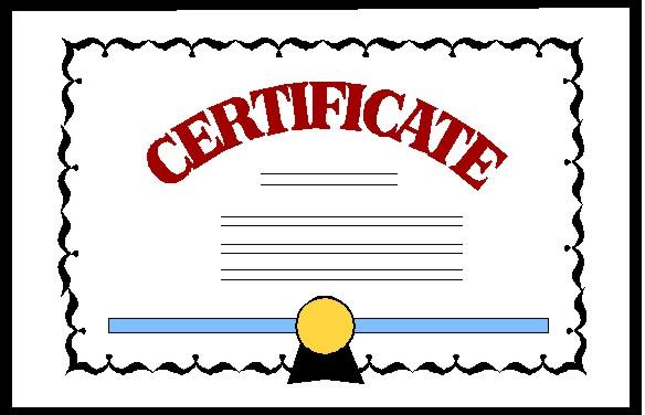 award clipart certificate