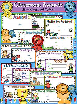 Certificates clip art printables. Award clipart classroom