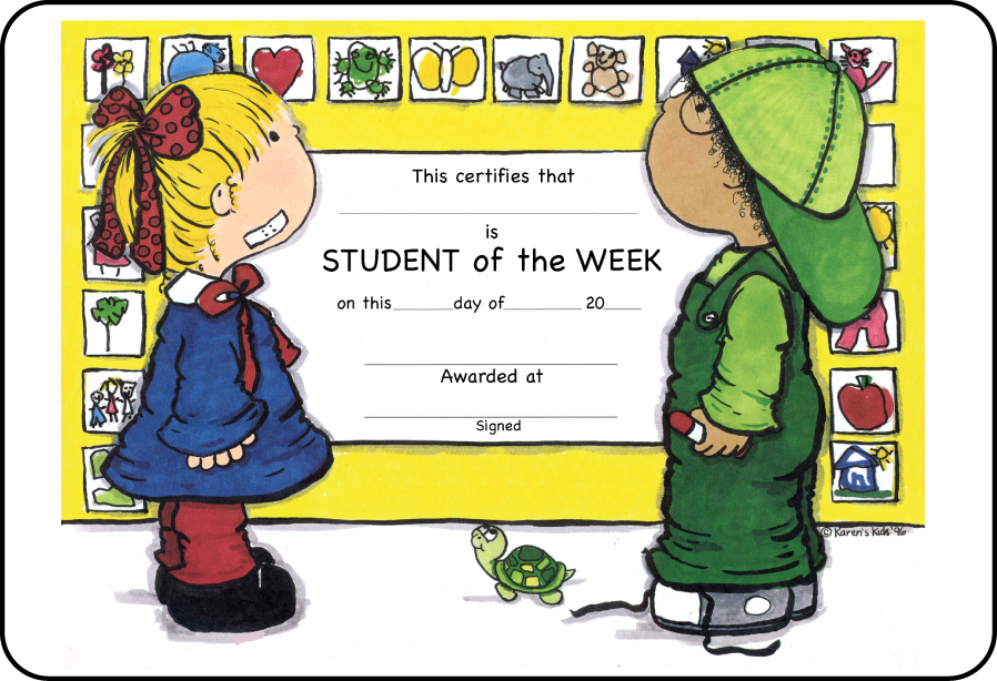 Student of the week. Award clipart classroom