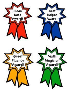 Award clipart classroom. Awards behavior ribbon management