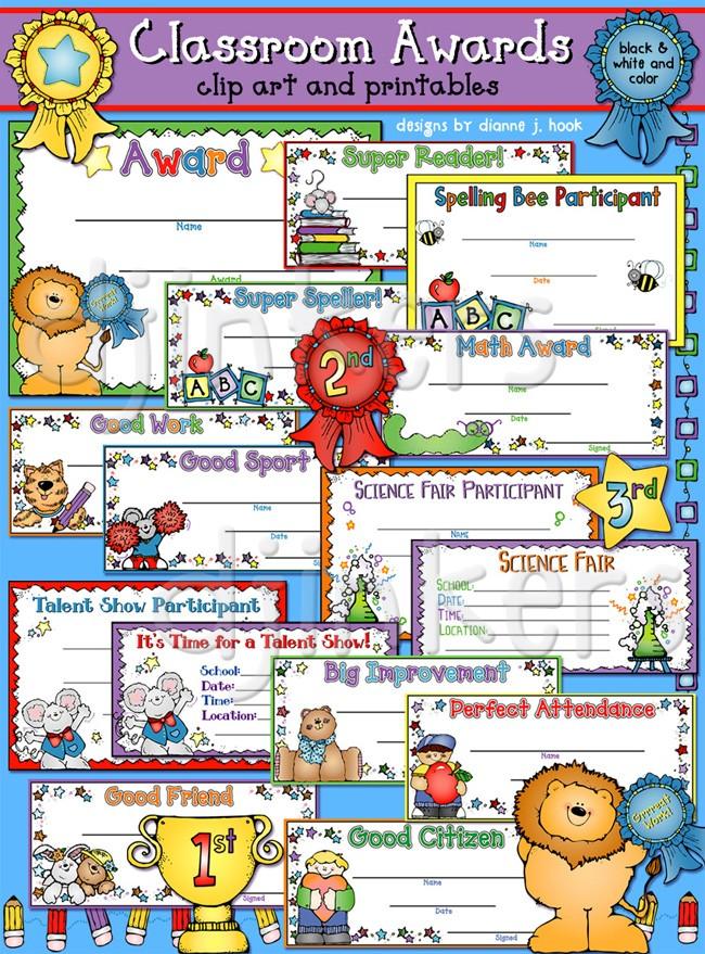 Award clipart classroom. Certificates clip art printables